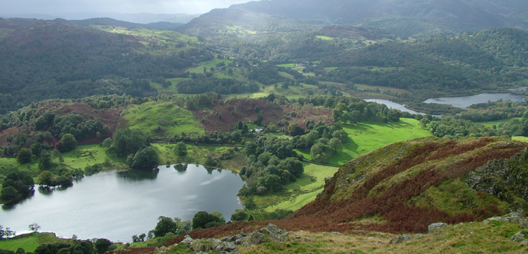 View from Loughrigg to Elterwater copyright Charlie Westney