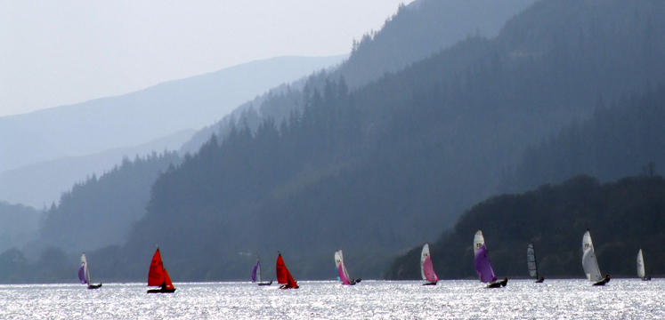 Sailing boats racing on Bassenthwaite copyright Michael Turner