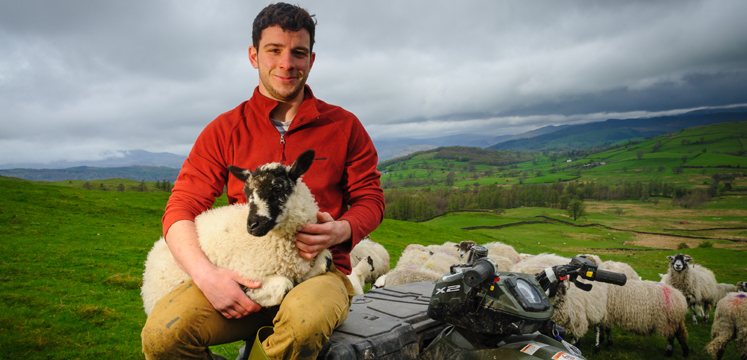 Farmer and lamb copyright Dave Willis