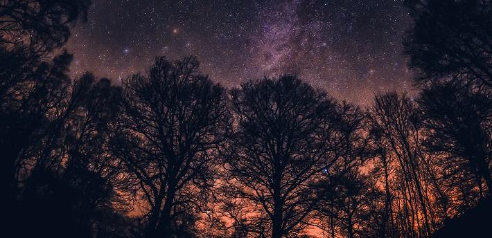 Starry skies over Derwent Water.