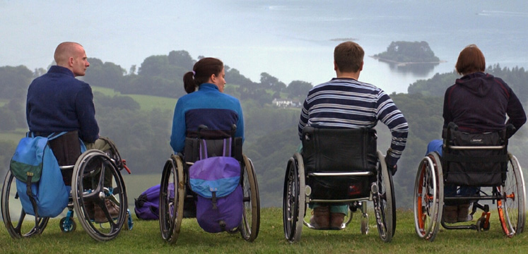 Wheelchair users from Calvert Trust copyright Charlie Hedley