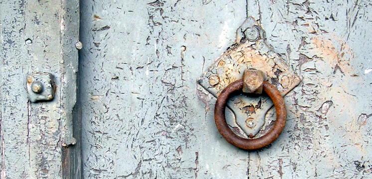 Detail of a farmhouse door copyright Michael Turner
