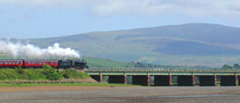 Steam train at Ravenglass