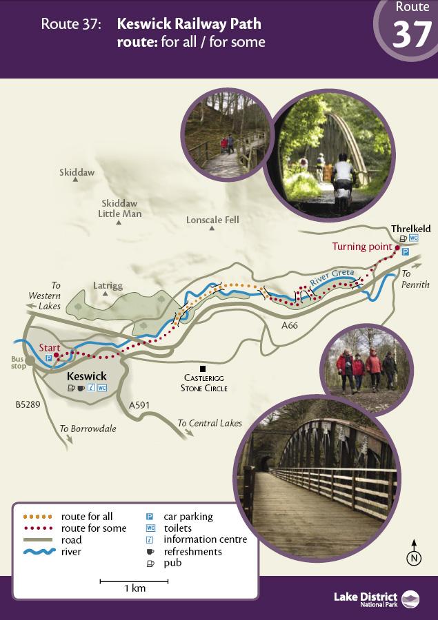 Map - Keswick Railway Path