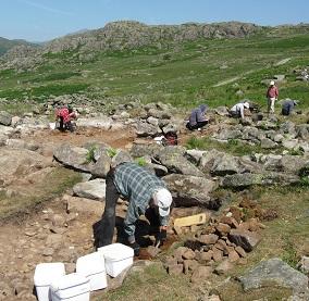 Excavations in June in the Duddon Valley