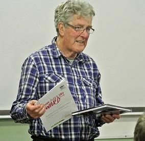 Volunteer Tony Corbet at the awards presentation
