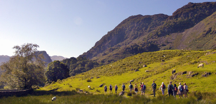 Walkers in Borrowdale copyright Charlie Hedley