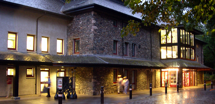 Theatre by the Lake in Keswick at night copyright Michael Turner