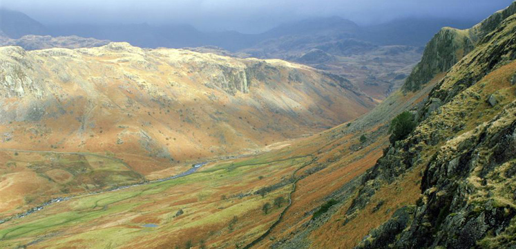 View of Eskdale from Hardknott