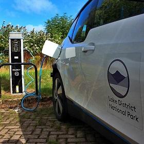 Electric car charging.