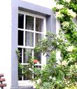 Cottage window at Hesket Newmarket copyright Michael Turner