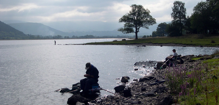 Fishing by Bassenthwaite Lake copyright Michael Turner