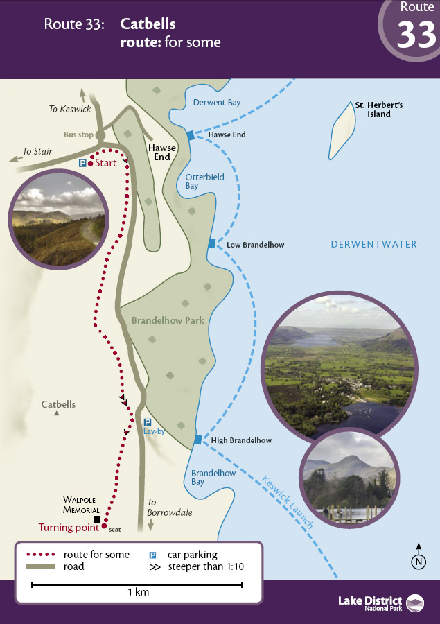 Map - Catbells route