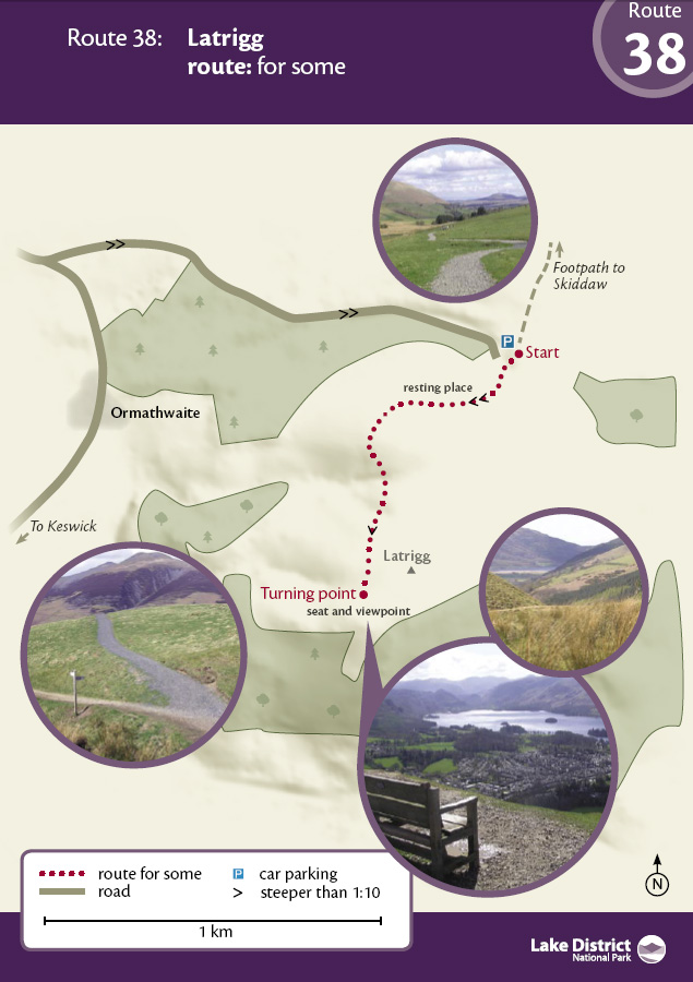 Map - Latrigg route
