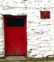 Red barn door copyright Michael Turner
