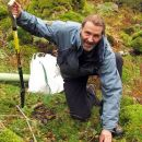 John Muir Award Manager for Cumbria, Graham Watson, celebrating the two-year contract renewal in the Lake District following the popularity of the conservation award.