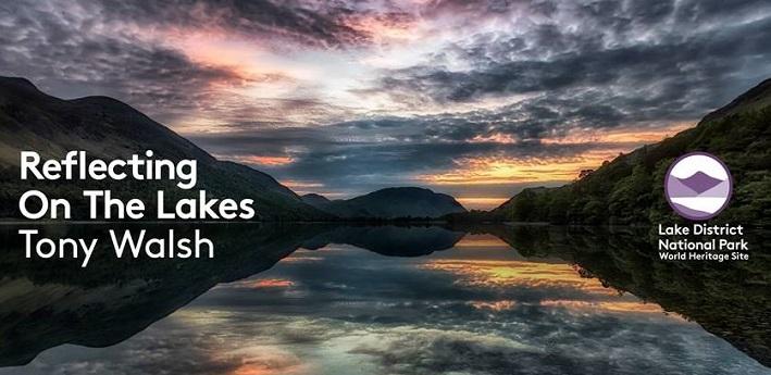 Lake District hills reflecting on a lake