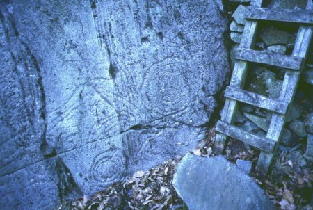 Copt Howe rock carvings in the Langdale valley copyright LDNPA