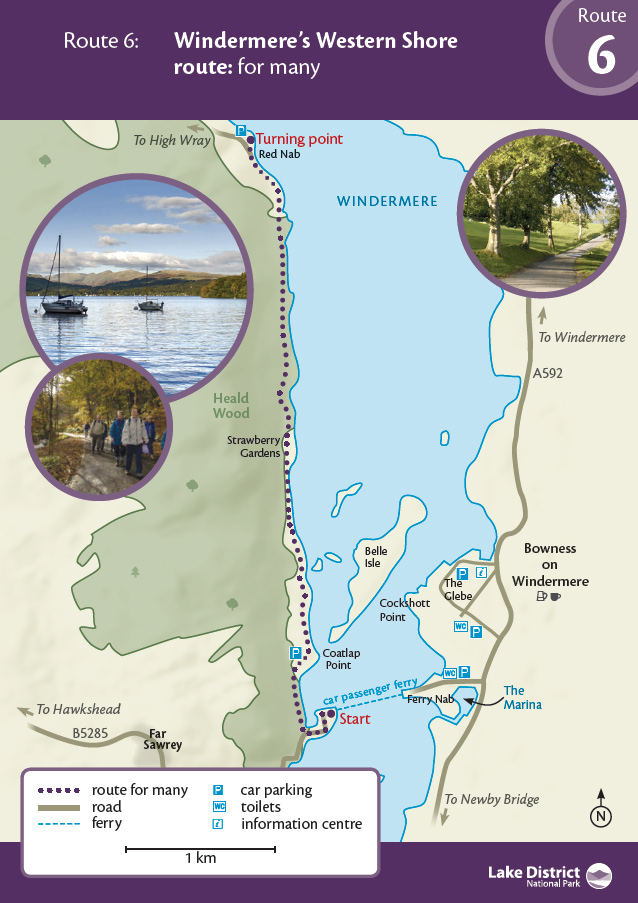 Map - Windermere's Western Shore route