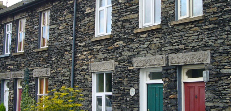 Row of cottages in Staveley copyright LDNPA
