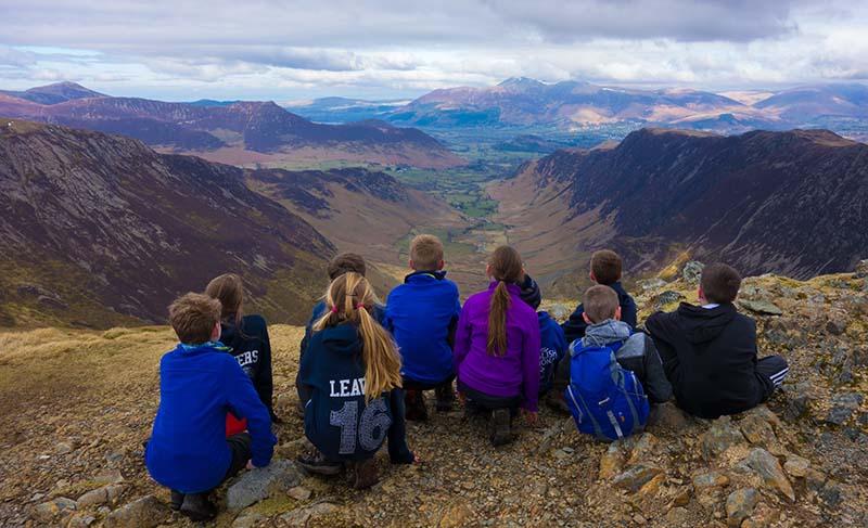 Children from Moorside School in Cumbria on a John Muir fieldtrip.