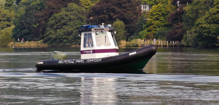 Lake Ranger boat patrolling on Windermere copyright Dave Willis