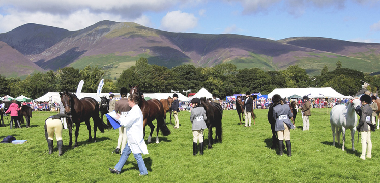 Horseriders at Keswick show copyright Charlie Hedley