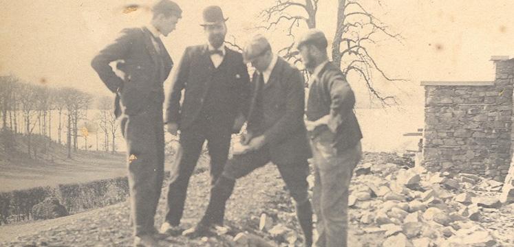 "The original builders of the Gaddums' ""Brockhole"" house"