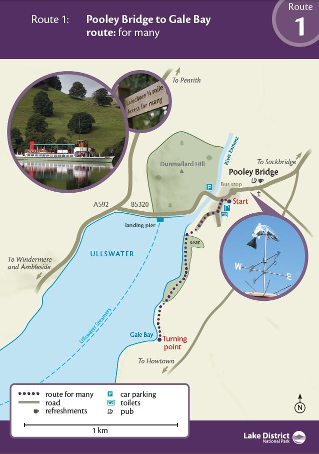 Map - Pooley Bridge to Eusemere