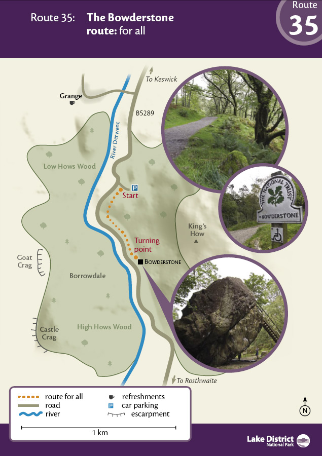 Map of the walk route