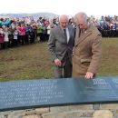 2)	The Prince of Wales is joined by Lord Clark of Windermere at the installation in Crow Park, Keswick