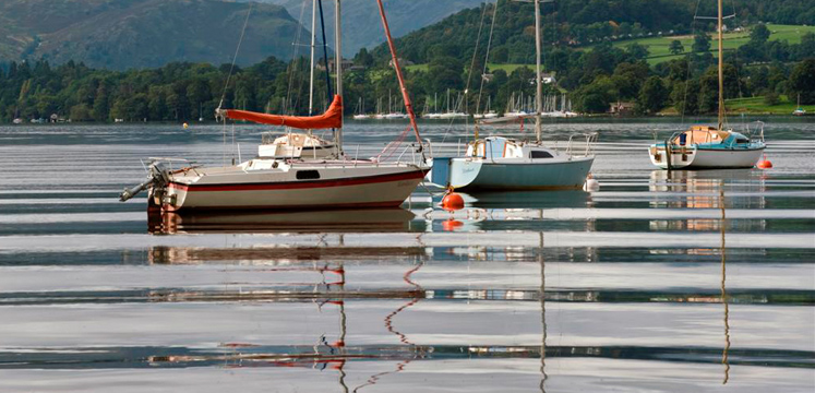 Boats on Ullswater copyright Charlie Hedley