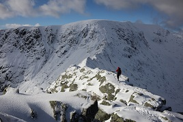 Helvellyn in the snow.%