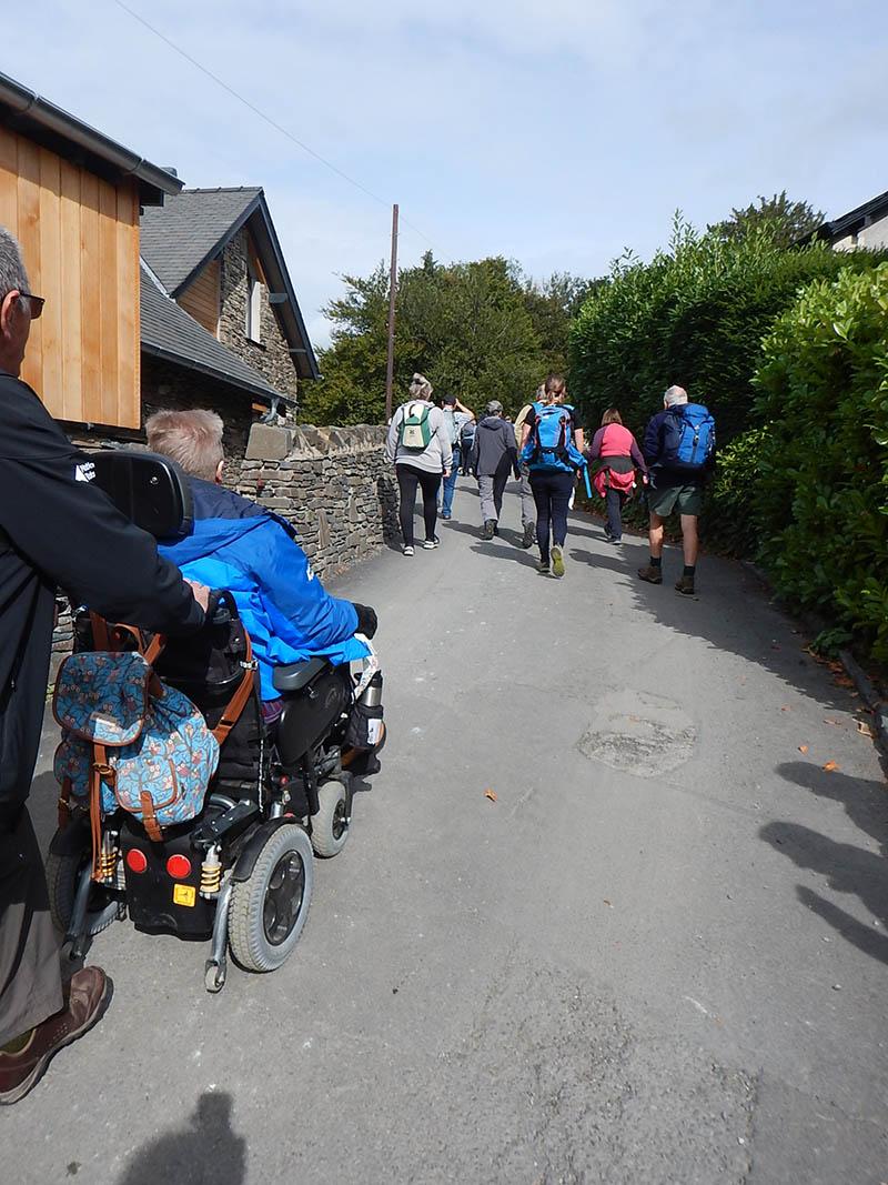 Passing Elleray Cottage and Shireburn