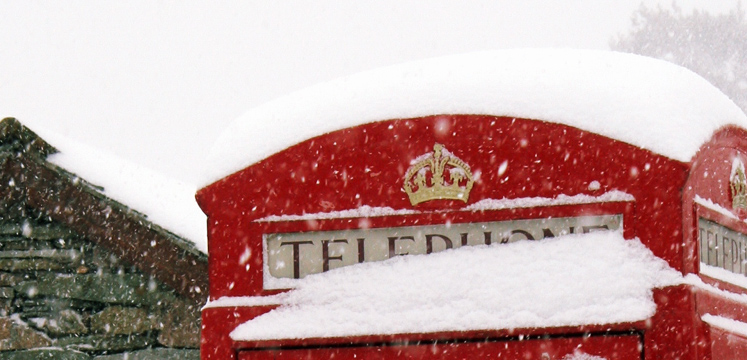Telephone box in the snow copyright Steve Reeve