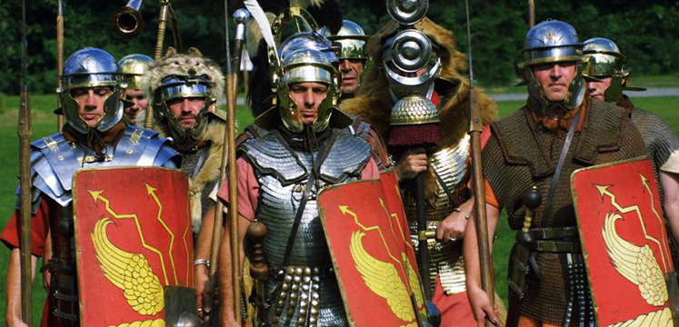 Roman soldiers at re-enactment at Brockhole copyright Steve Reeve