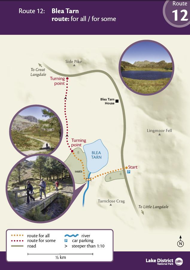 Map - Blea Tarn route