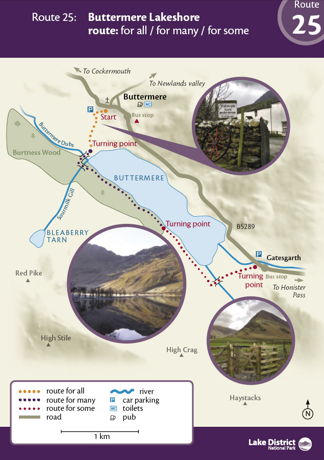 25 - Buttermere Lakeshore route