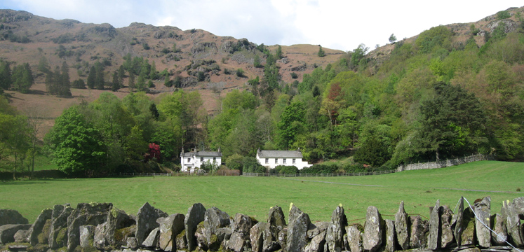 Houses below Silver How in Grasmere copyright Helen Reynolds