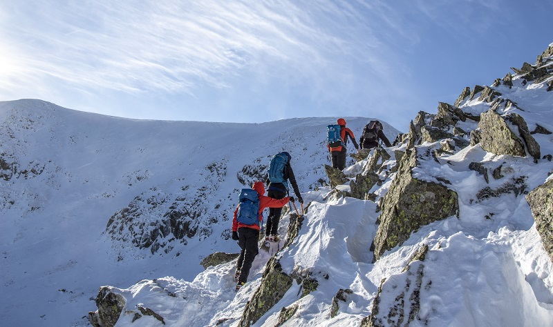 Winter Skills course on Helvellyn.