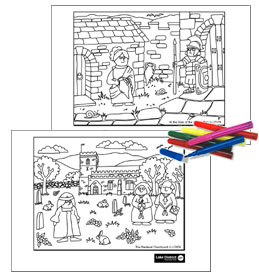 Colouring-in sheet examples