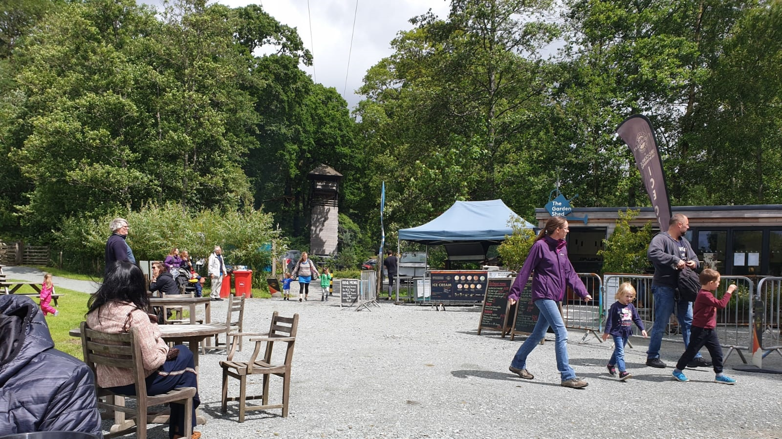 Families enjoyed the range of activities that were on offer at Brockhole this weekend.