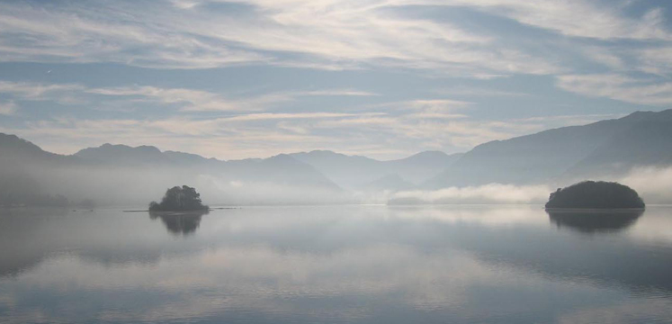 Derwentwater reflections copyright Helen Reynolds