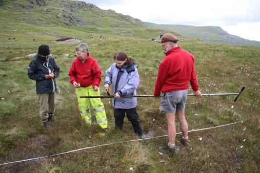R2R coring week 2 - taking sample