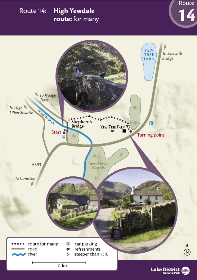 Map - High Yewdale route