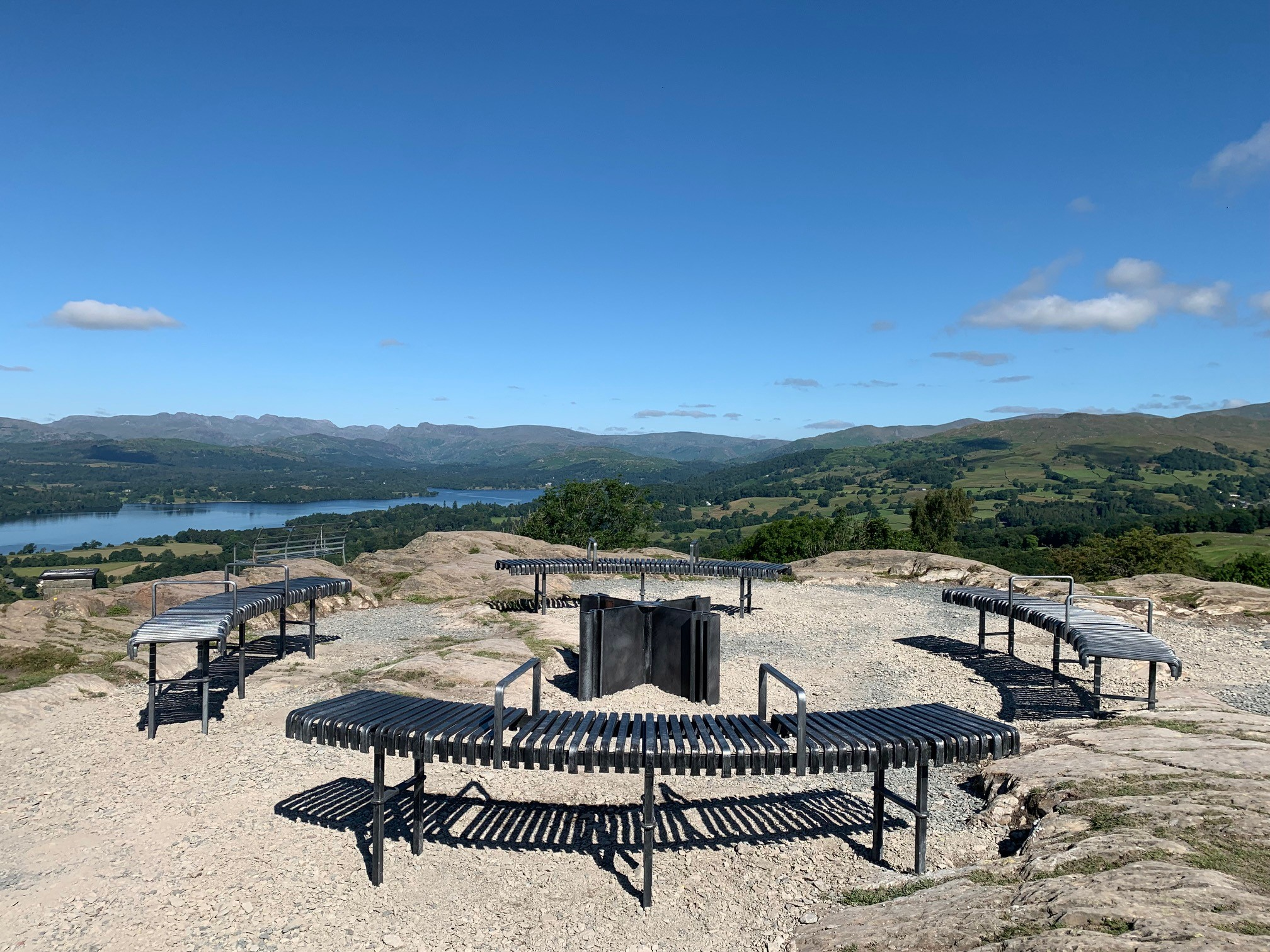 View from the summit of Orrest Head fell over Lake Windermere.