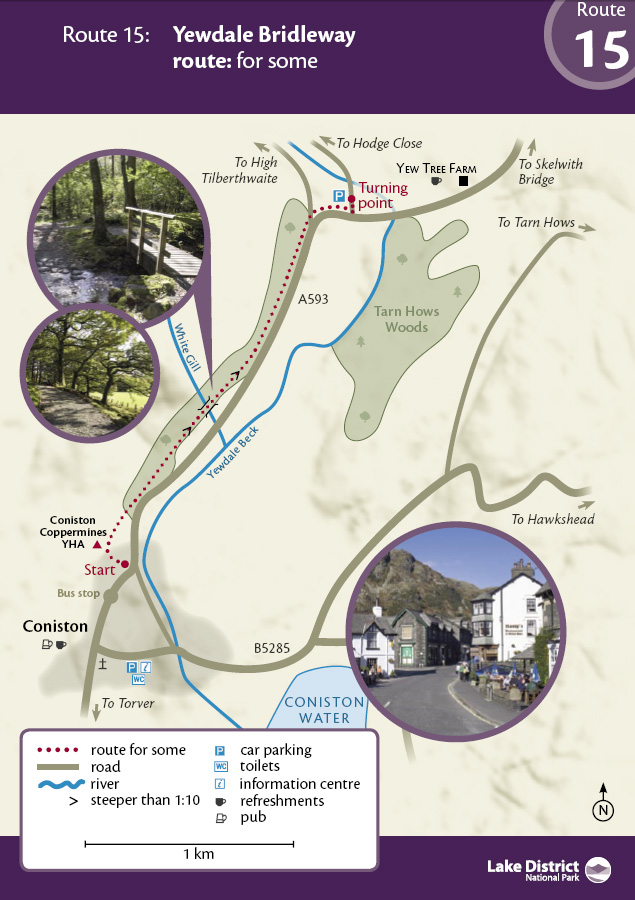 Map - Yewdale Bridleway route