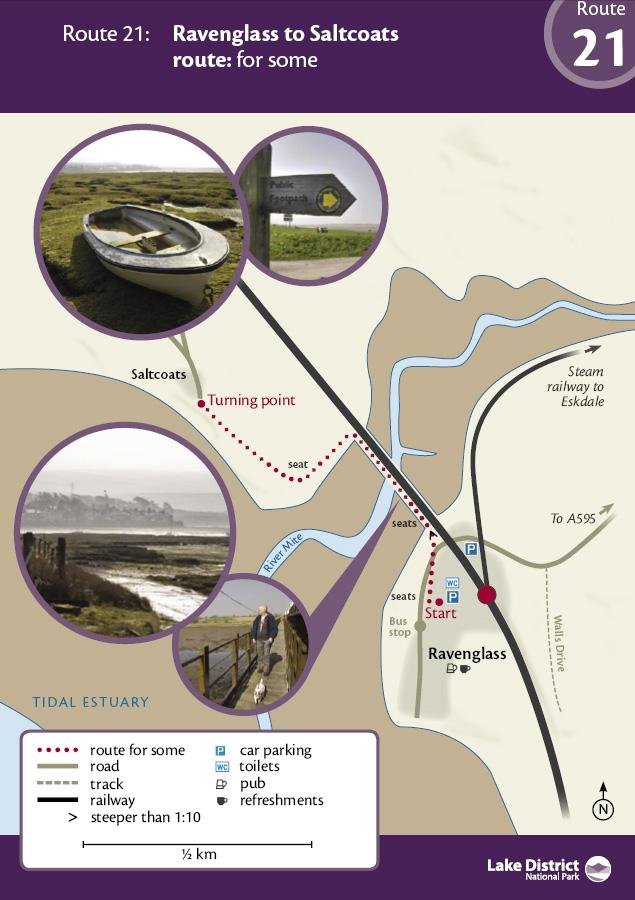 Map - Raveglass to Saltcoats