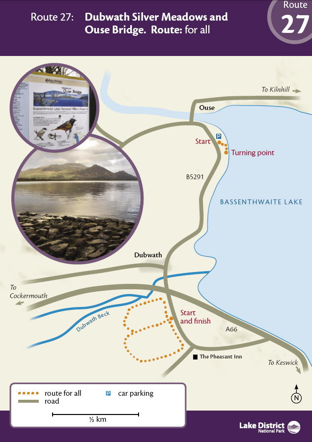 Map - Dubwath Silver Meadows and Ouse Bridge route