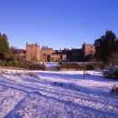 Muncaster Castle in deep snow